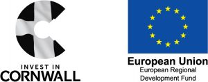 Cornwall Trade and Investment logo and ERDF logo