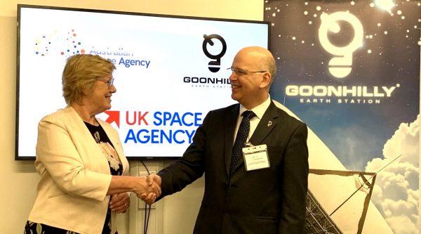 Goonhilly handshake