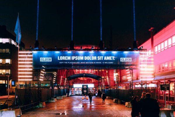 Main entrance to Slush event in Europe.