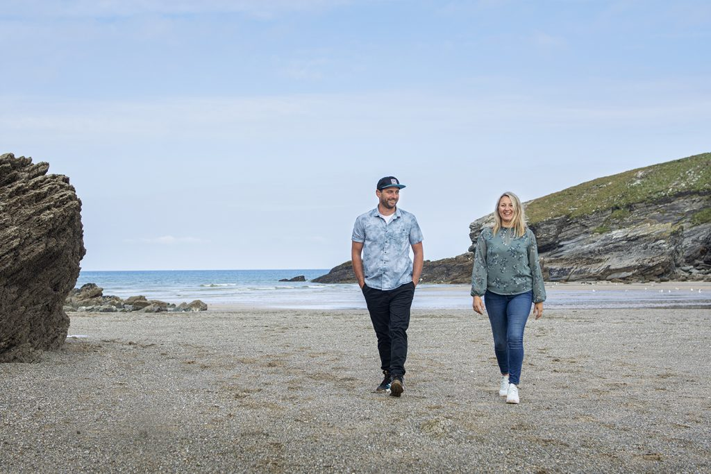 Marwick Marketing team on Newquay Beach